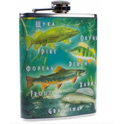 """Фляжка 8 oz """"Рыбы"""""""