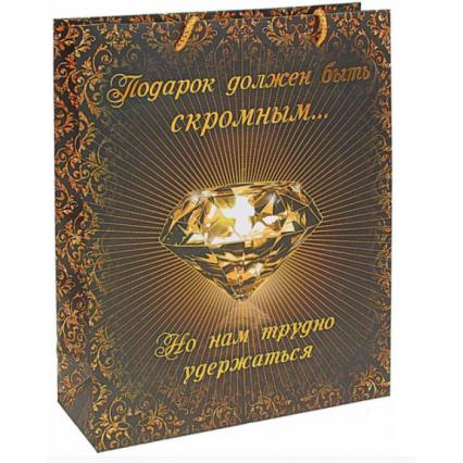 """Подарочный пакет """"Нескромный подарок"""", размер ML (26*32*10 см)"""