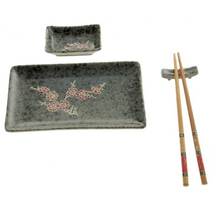 "Набор для суши ""Красная сакура"", 4 предмета"