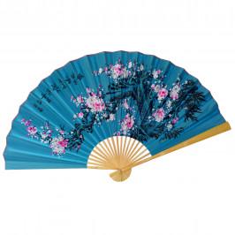 Веер на стену Сакура на голубом, h=65 см