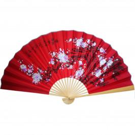Веер на стену h=65 см Сакура на красном