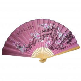 Веер на стену h=65 см Сакура на розовом